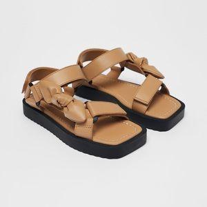 • Zara • Bow Sandals